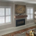 Hampton Shutters large horizontal next to fire place